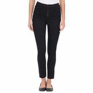 Calvin Klein Women's High Rise Exposed Button Jean